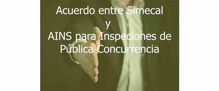 ACUERDO COMERCIAL PARA INSPECCIONES DE PÚBLICA CONCURRENCIA